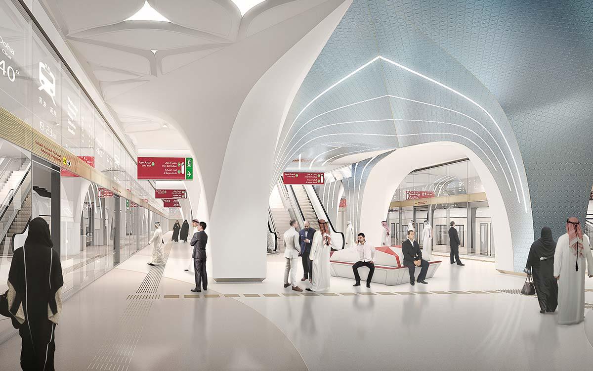 Ben Van Berkel Unstudio Doha Metro Network
