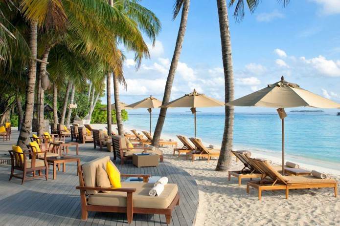 A Maldivian Island has come on the market complete with building permits for a luxury hotel resort and spa.