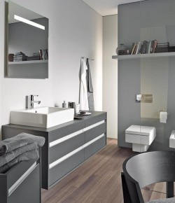 Elegant grey areas for the bathroom by Duravit