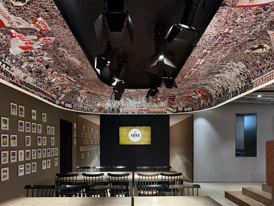 Club restaurant for VfB Stuttgart by Ippolito Fleitz architects